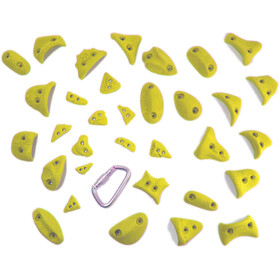 Ergoholds Power Pack Prises d'escalade 23+10 prises, yellow
